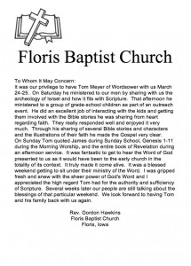 tom-meyer-wordsower-ministries-archeology-scripture-memorize-floris-baptist-church-letter