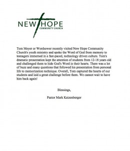 tom-meyer-wordsower-ministries-gods-word-memorize-bible-new-hope-community-church-letter
